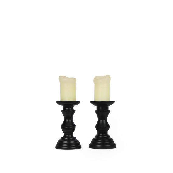 2 drewniane _wieczniki BLACK CLASSIC by drevko